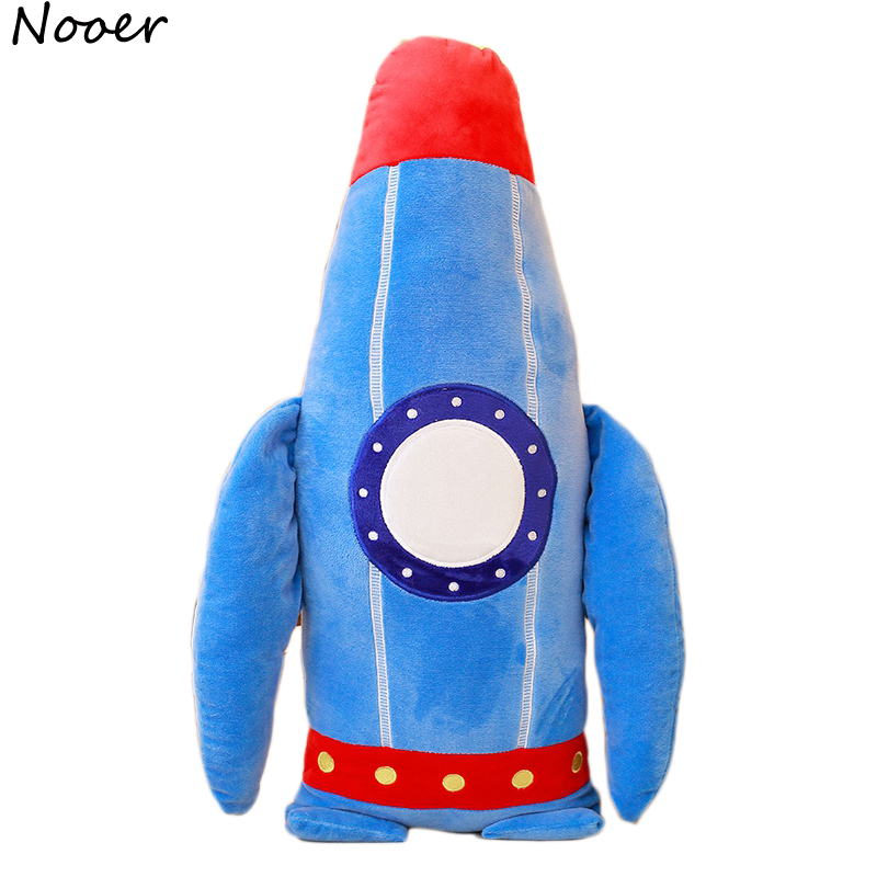 Nooer Cartoon Car Rocket Stuffed Plush Toy Plush Rocket Throw Pillow Cushion Kids Doll Chidren Room Decoration Best Gift For Boy