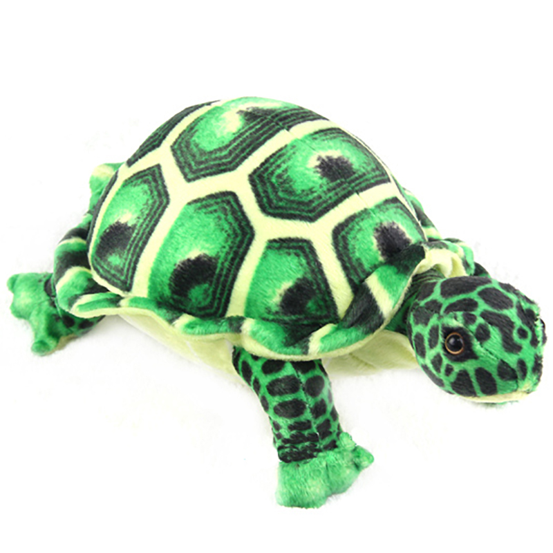 Green Looklike Turtle Cushion Plush Doll  Stuffed Simulation Animal Toy Soft Pillow for Kids Girl and Boy Birthday Gift 11*8*5  infrared remote control simulation brazil turtle toy animal model