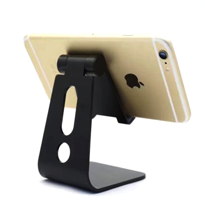 Almxm Aluminum Alloy Phone Holder Desktop Universal Non-slip Mobile Phone Stand Desk Holder For Iphone Pad For Samsung Tablet To Enjoy High Reputation At Home And Abroad Mobile Phone Accessories Cellphones & Telecommunications