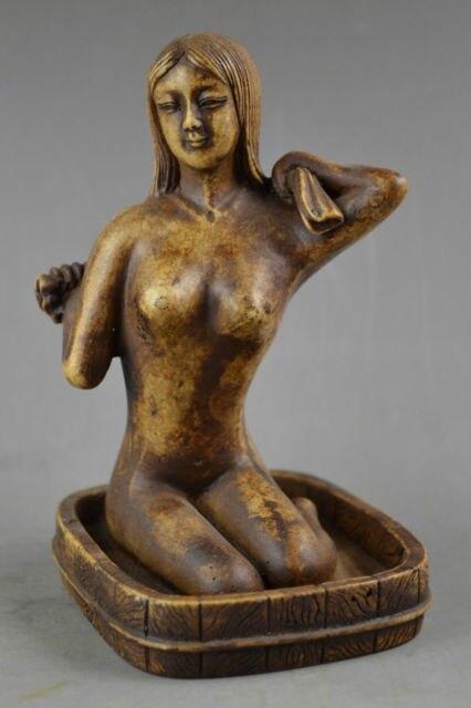14.8 cm * / Chinese art stone statue of a beautiful naked woman