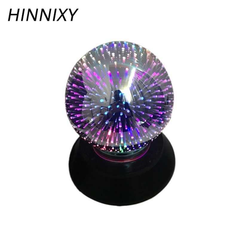 Hinnixy 3D マジック花火ガラスの夜の光直接プラグバッテリーデュアルパーパス LED 装飾デスクランプアメリカ独立日ギフト