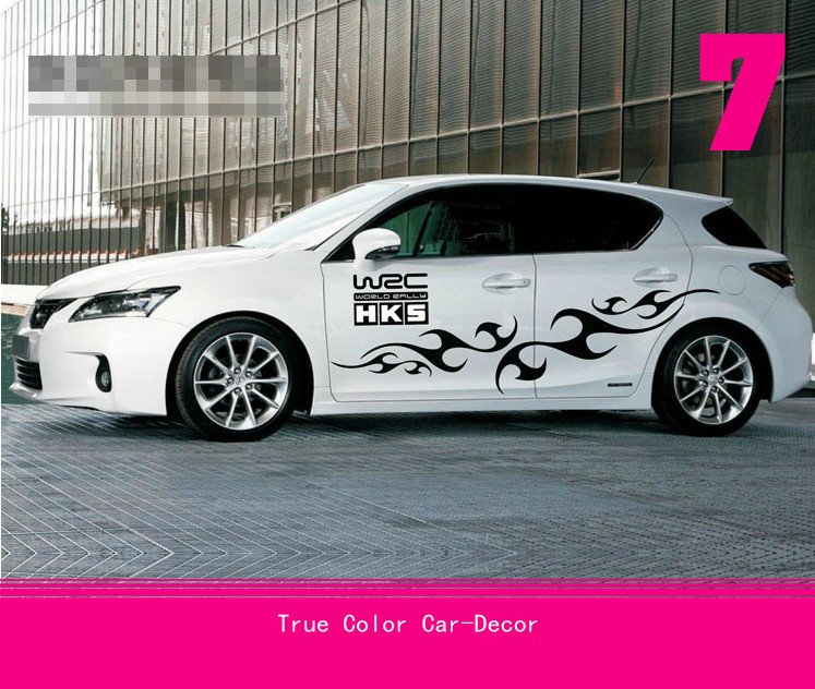 Graffiti Painted Rally WRC Auto Decor Car Vinyl Whole Body Graphic Decal Sticker Styling Universal