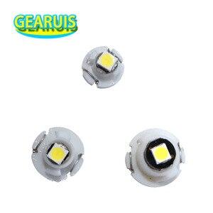 Image 1 - 100Pcs T3 T4.2 T4.7 1 SMD 3030 LED Car Auto Dashboard Warning Indicator light Instrument Cluster Bulb Side Light Indicator light