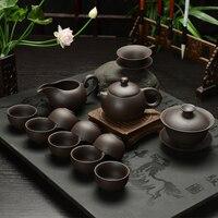 2017New Hot Sale Teapot Chinese Porcelain Zisha Tea Pot 3 Cups Kung Fu Tea Tea Set