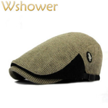 Который в душ вязаный пэчворк Беретки для женщин шапка для Для женщин Для мужчин крючком осень-зима утконоса плоская кошка мужской женский газетчик Кепки Bone