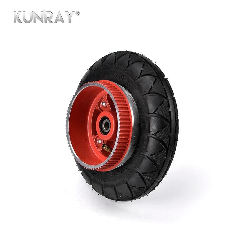 KUNRAY 8inch Electric Scooter Bicycle Rear Wheel Hub Belt Motor 535-5M Pitch Teeth Sprocket 200x50 Tire 8