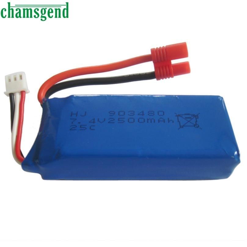 CHAMSGEND 1pcs 7 4V 2500mAh High Capacity li po Battery for Syma X8C X8W X8G RC