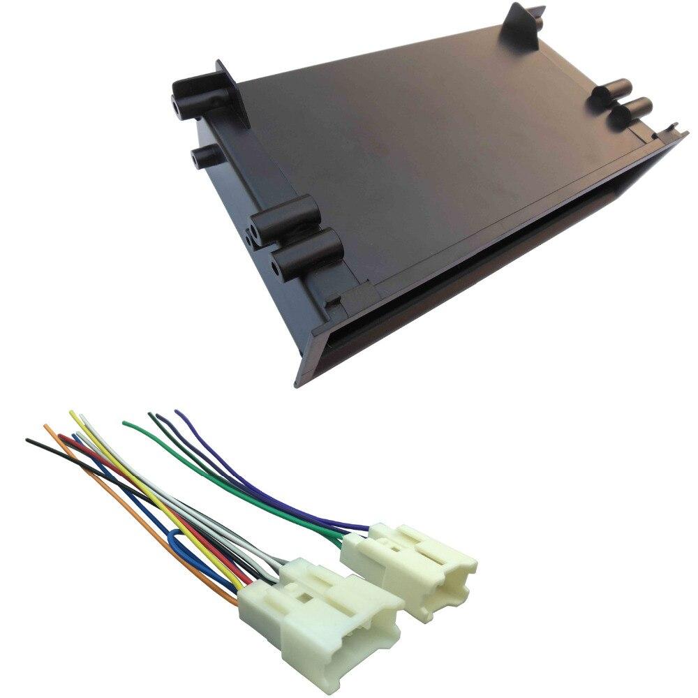 For Toyota Land Cruiser Corolla Stereo Radio Install Pocket Trim Wiring Harness Dash One Din Fascia Kit Refitting Installation
