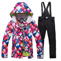 2019 Winter Snow jacket Women Ski Suit Female Snow Jacket And Pants Windproof Waterproof Colorful Clothes Snowboard sets