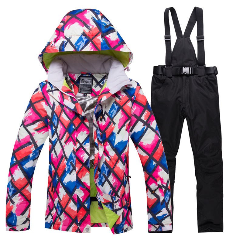 2020 Winter Snow Jacket Women Ski Suit Female Snow Jacket And Pants Windproof Waterproof Colorful Clothes Snowboard Sets