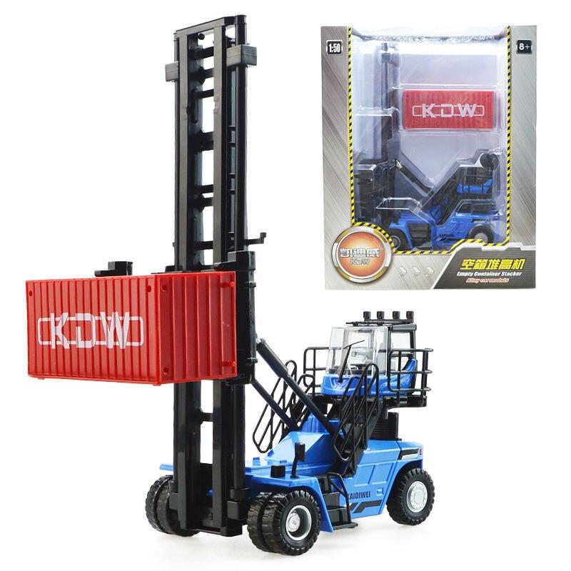 De aleación de vehículo de ingeniería contenedor de machinesimulation juguete de los niños modelo 1:50 Navidad Año nuevo chico regalo