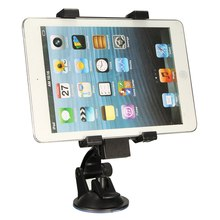 Universal Car Windshield Suction Tablet Mobile Phone Mount Holder Stand 6.5-14cm Width Adjustable For Ipad/Iphone/Samsung Tab(China)