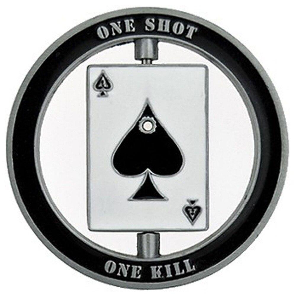 50/100/200 pcs/lot DHL livraison gratuite Sniper One Shot One Kill crâne Spinner pièce de défi militaire