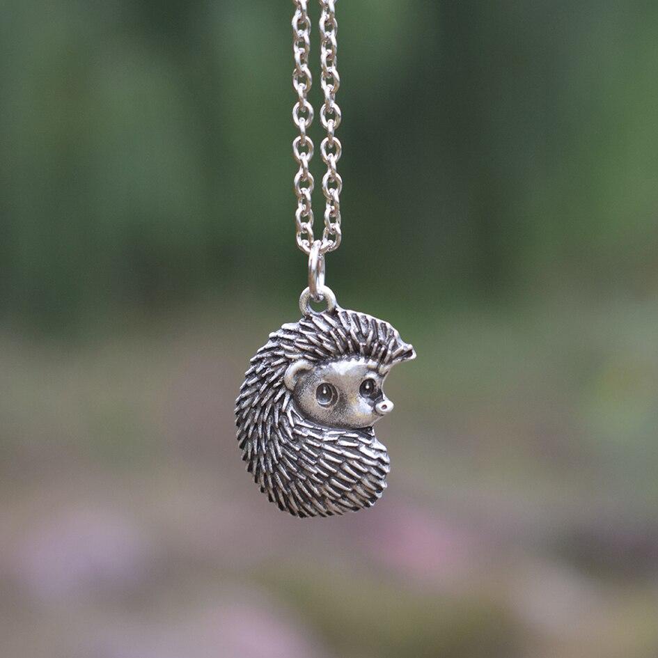 SanLan 1pcs Animal necklace Little cute Hedgehog Necklace Girlfriend Birthday gift