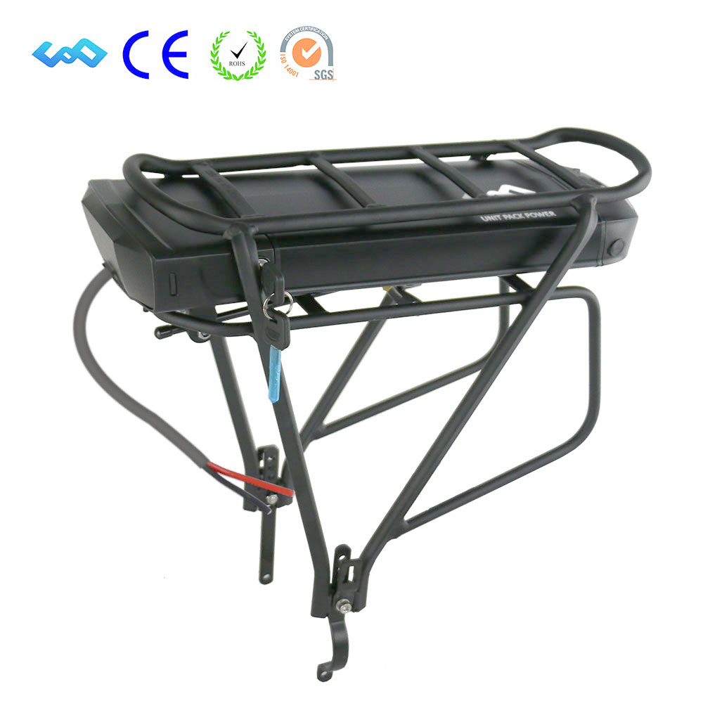 US EU No Tax 36V 13Ah Rear Rack Battery for Bafang BBS01 500W 350W EBike Battery