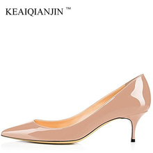 KEAIQIANJIN Woman Red Bride High Heels Shoes Big Size 43 44 45 Low Heel Valentine Shoes Green Blue Pink White Purple Sexy Pumps brand new fashion red black pink purple dark green women nude pumps ladies high heels bowtie shoes ahc668 plus big size 10 43