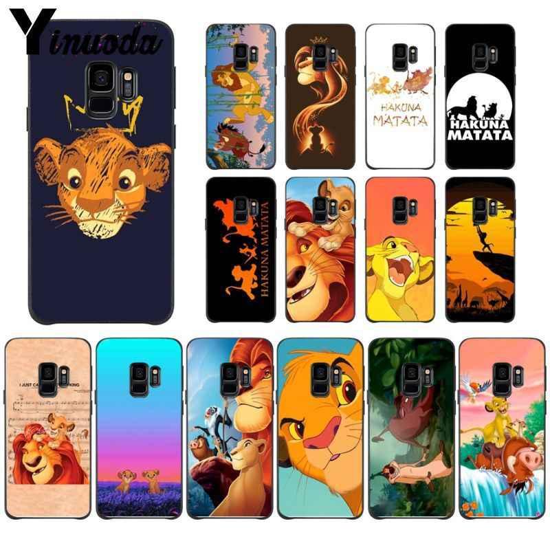 Yinuoda The Lion King Pattern TPU Mềm Điện Thoại Phụ Kiện Điện Thoại Di Động Trường Hợp Đối Với Samsung Galaxy s9 s8 cộng với note9 s7 s10plus Bìa