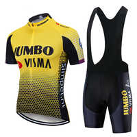 2019 lotto Jumbo visma cycling jersey set mens maillot bicicletta Da Corsa MTB ropa ciclismo estate quick dry bike panno 19D GEL pad