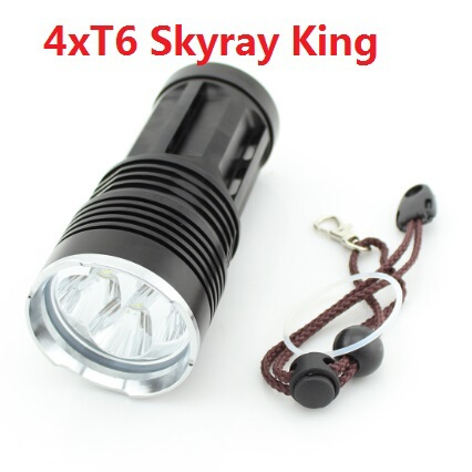 SKYRAY KING 4x CREE XM-L T6 3 mode 5000 lumens 18650 battery LED Flashlight Torch Lamp for Camping, hiking, hunting, fishing 20000 lumens skyray king 10 x cree xm l t6 led flashlight torch lamp light for hunting camping 4 pcs 18650 battery charger