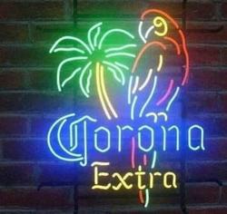 Изготовленный На Заказ Corona Parrot стеклянный неоновый свет знак пивной бар