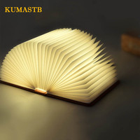Creative 5 Color Foldable Page Night Light Bedside Light USB Rechareable LED Book Night Lamp Light