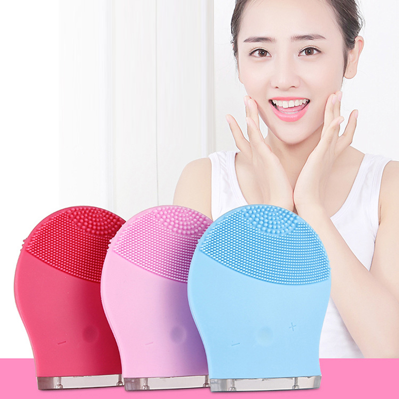 Electric Vibration Skin Remove Blackhead Pore Cleanser Facial Cleansing Brush Waterproof Silicone Face Massager Make-up 30 4 in 1 electric facial cleanser deep cleansing skin care blackhead removal washing brush massager face body exfoliator scrub