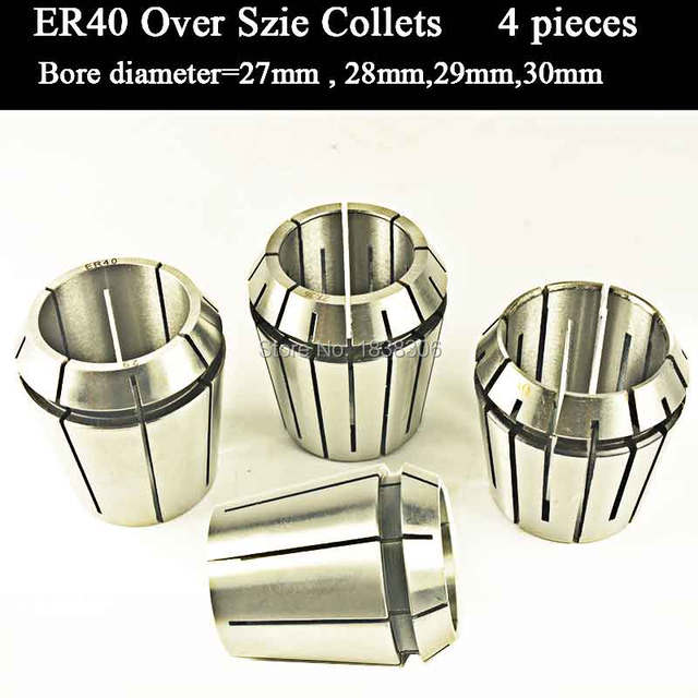 4pcs ER 40 ER40 over size Spring collet clamping tool drill chuck arbors for CNC milling lathe tool/milling cutter DIN 6499B