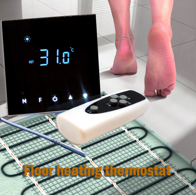 5KW 100-240VAC external sensor Electrically heated floor thermostat with Remote control