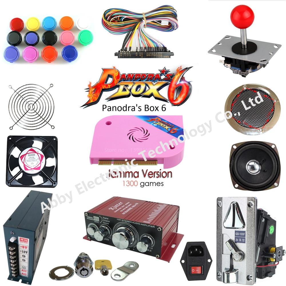 1300 games Pandora 6 home arcade kit diy cabinet pandora