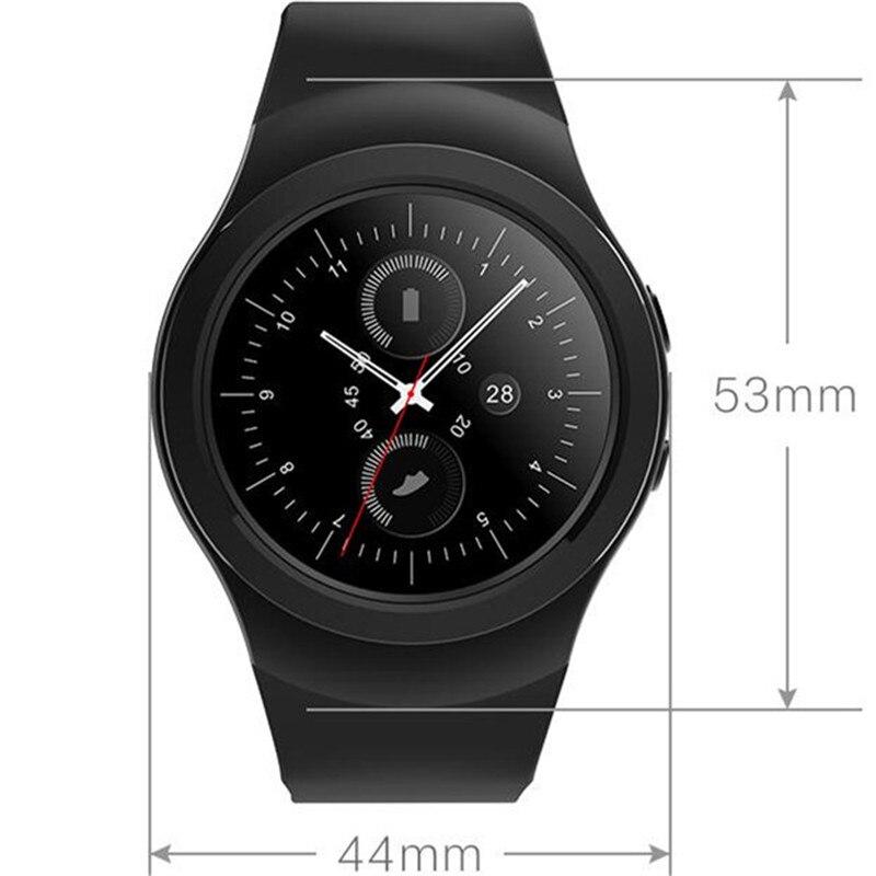 imágenes para Bisel giratorio reloj ronda completa pantalla smart watch as2 bluetooth Smartwatch Con Monitor de Ritmo Cardíaco Para iOS Android PK G3 KW18