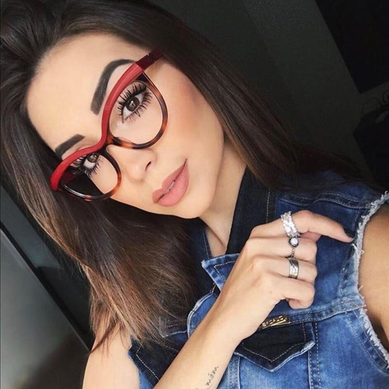 BUKE Brand Designer Eyebrows Square Glasses Frames Women Optical EyeGlasses Fashion Eyewear Computer Glasses 2018 New