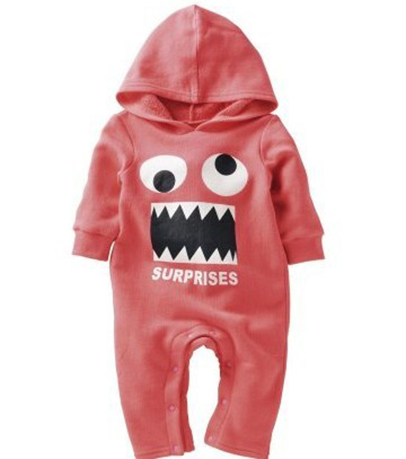 1e08e142b6a3 funny baby clothes halloween costumes hoody romper autumn winter infant  creepers baby boys snow suit unisex cotton coverall baby-in Rompers from  Mother ...
