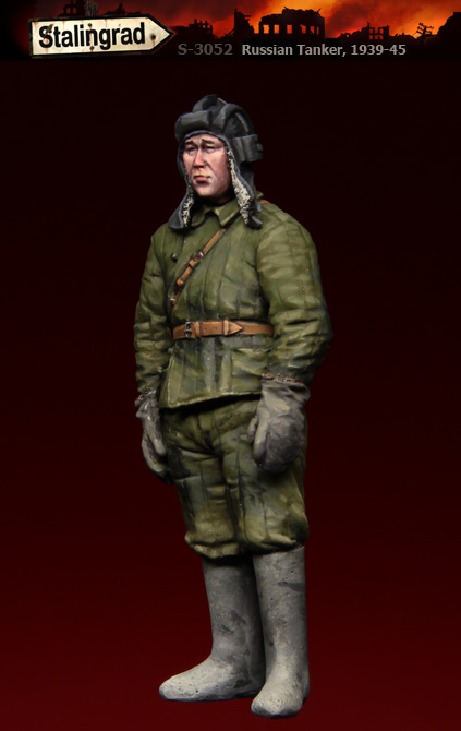 Assembly model kit 1/ 35 russian tanker winter soldier standing figure Historical WWII Resin Model Unpainted resin kits