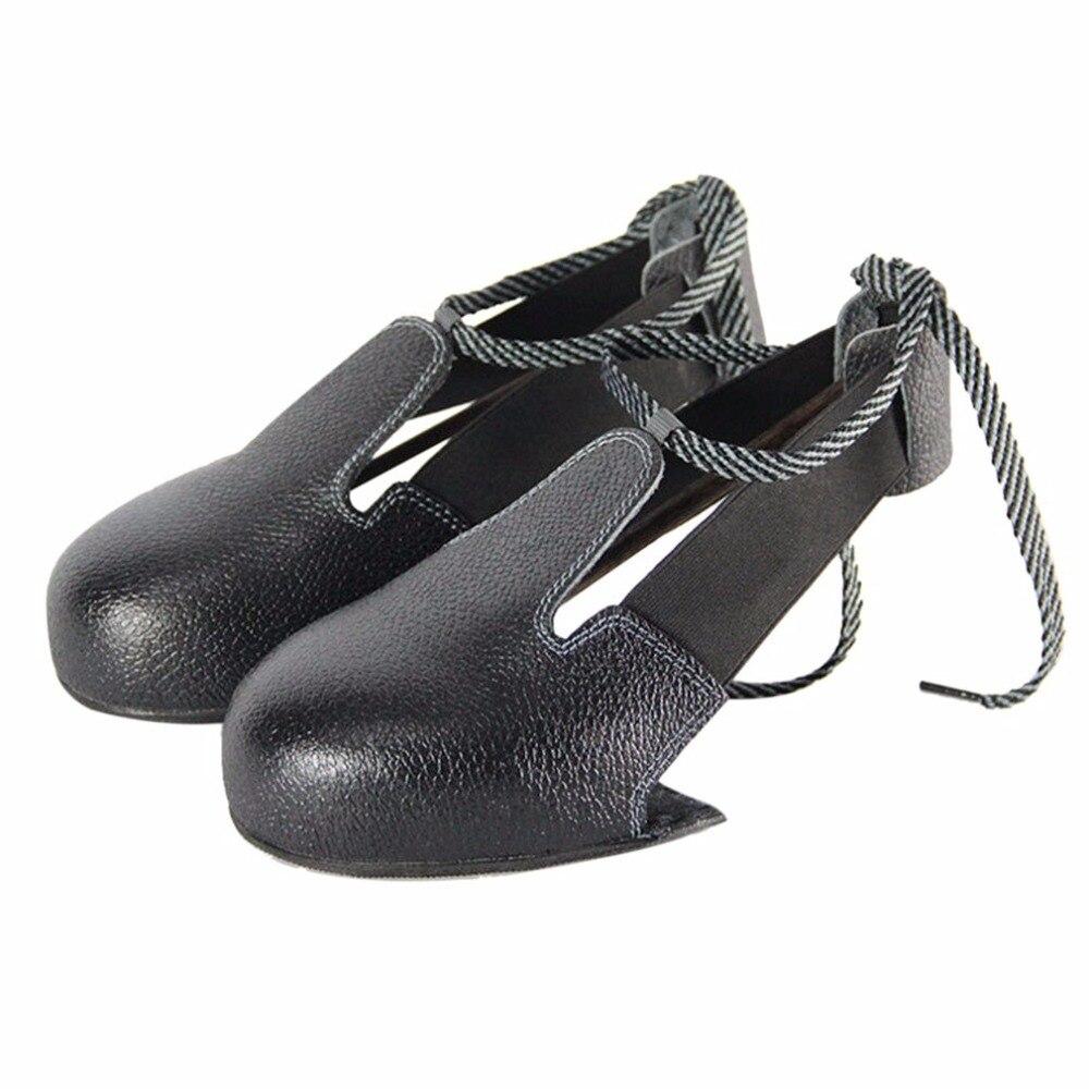 Neue 1 Paare/los Mann Frau Sicherheit Schuhe Echt Leder Stahl überschuhe Woker Schuhe Abdeckung Besucher überschuhe Zehen Schutz Sicherheit & Schutz