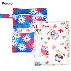 20*25CM Pororo single pocket wet bag, baby cloth diaper bag, waterproof reusable nappy bags, small size mummy dry bag wholesale