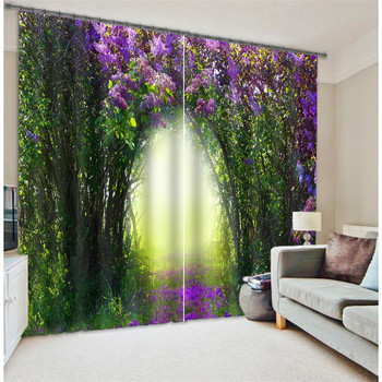 Modern Fashion tree flower Printing 3D Blackout Curtains For Bedding room Living room Hotel Drapes Cortinas Para Sala