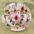 Flores encantadoras Multi-cor Morganite 925 Sterling Silver Moda & Moda Jóias Anéis das Mulheres Tamanho 6 7 8 9 S0885