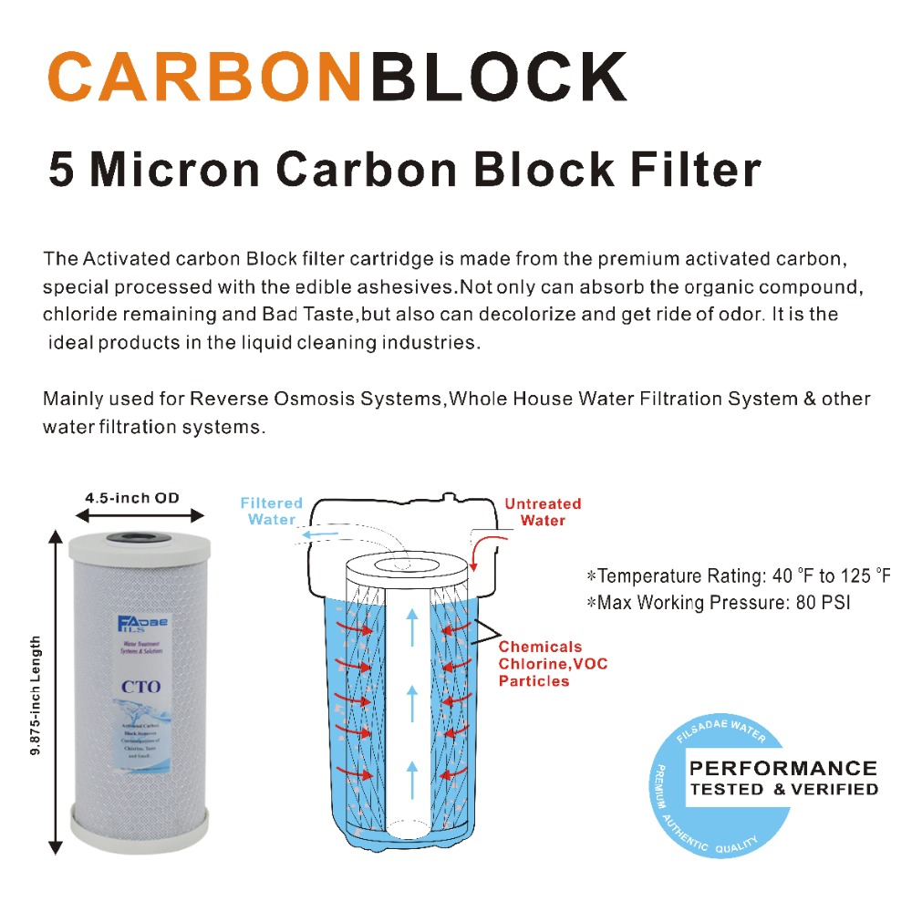 US $70 31 11% OFF|Whole House Filteration System Replacement Filter kits 3  stage PP Sediment, GAC & Carbon Block Filter 5 Micron 4 5