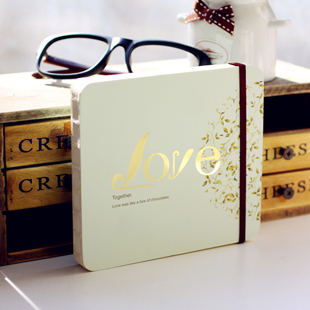 NNRTS tied rope love journey couple notebook three-dimensional essay mood love diary 4 colors image
