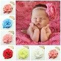 Big peony Flor Headbands headband envoltório principal banda de cabeça do bebê 6 cores para escolher