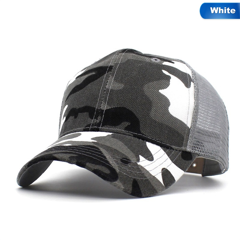 2018 Snow Camo Baseball Caps Men Summer Mesh Cap Tactical Camouflage Hat For Men Women High Quality Bone Masculino Dad Hat Caps