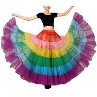 Colourful Full Slip Multi Skirt Women Prom Saias Adult Bridal Underwear Tulle Midi A Line Petticoat
