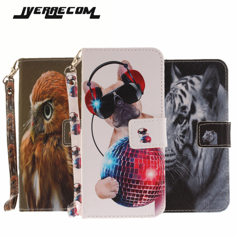 Painted Flip Case Fundas For Apple IPhone 7 Plus PU Leather+Silicon Wallet Stand Cover For IPhone 7 Plus Phone Cases Coque