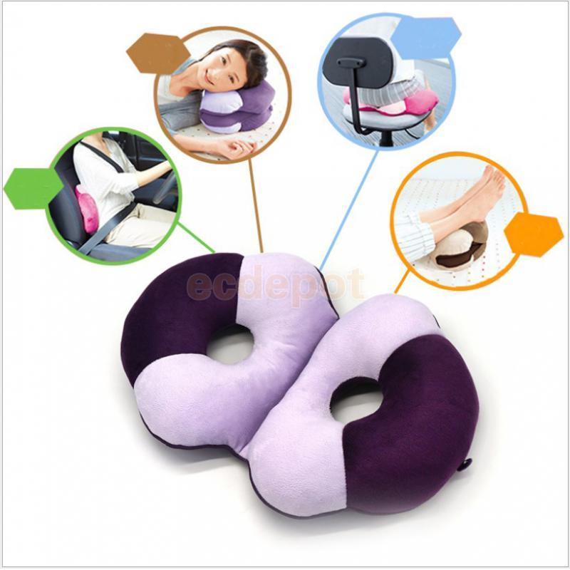 fityle Memory Foam Lumbar Back Support Cushion Seat Pad Car Office Cushion Height Booster Elastic Cushion Seat Pad Back Relief