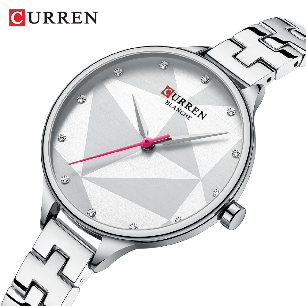 Luxury Brand CURREN Women's Watch Fashion Elegant Quartz Wristwatch With Stainless Steel Female Clock Ladies 9047 Reloj Mujer