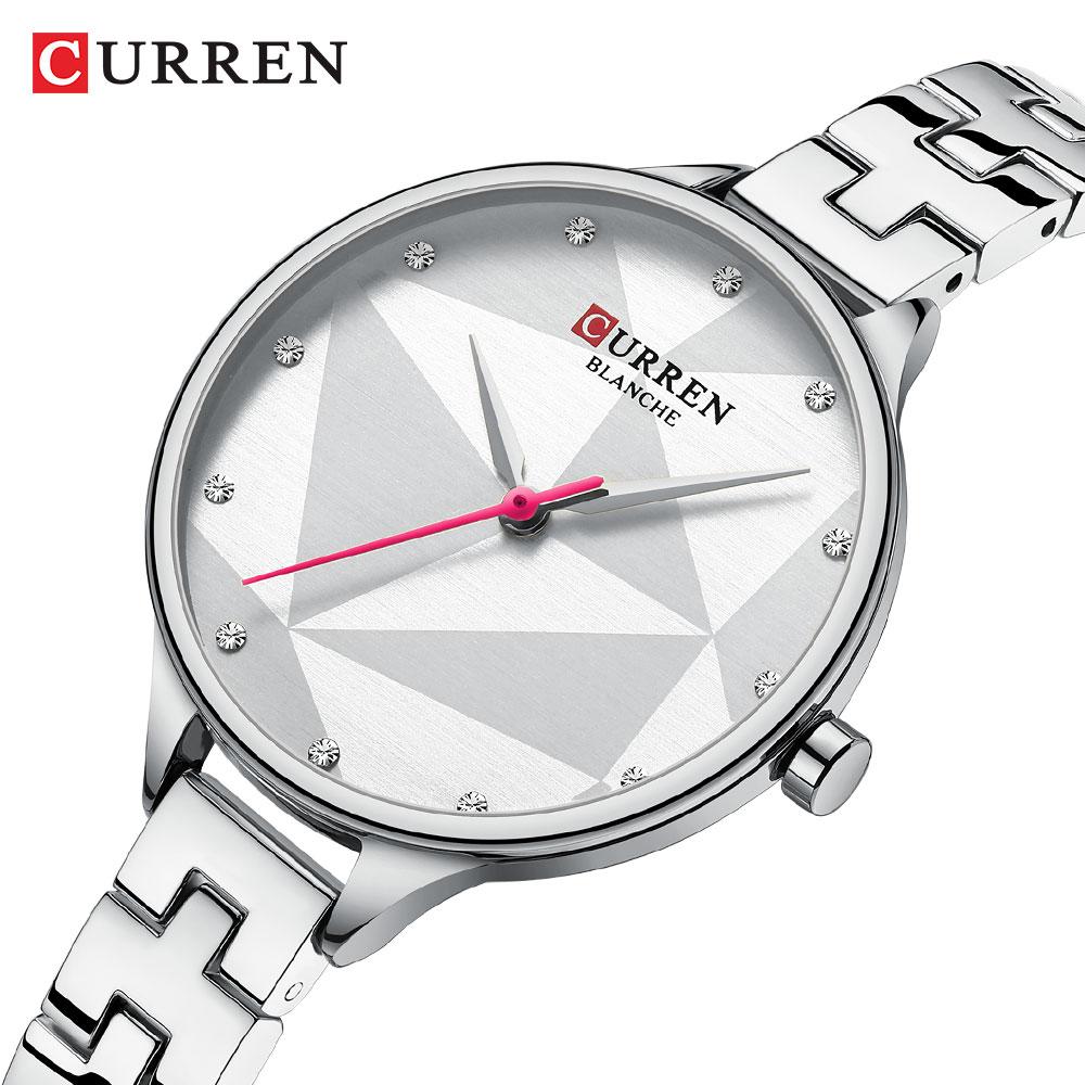 Luxury Brand CURREN Women's Watch Fashion Elegant Quartz Wristwatch With Stainless Steel Female Clock Ladies 9047 Reloj Mujer