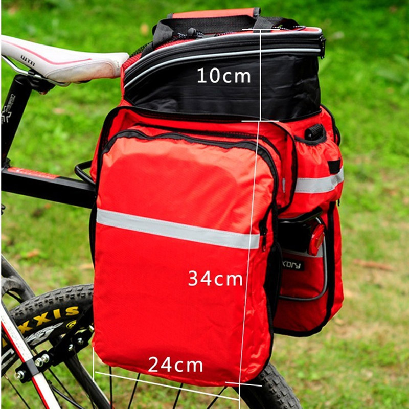 New Waterproof Polyester Mountain Road Cycling Bicycle Bag Bike Double Side Rear font b Rack b