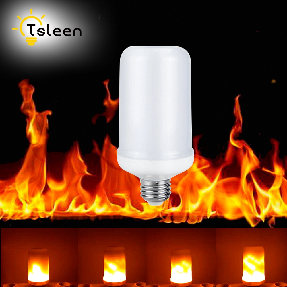 Cheap Wholesale 2PCS E26 E27 E14 B22 LED Flame Effect Fire Light Bulb SMD2835 Flickering Emulation Flame Lamp 1800K AC85V~265V