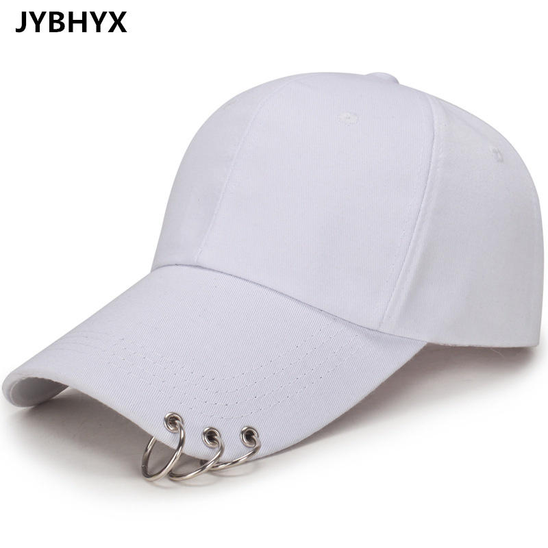 JYBHYX Baseball Cap Safety Pin Hip Hop Strakback Snapback Hats For Men Women Ring Hoop d ...