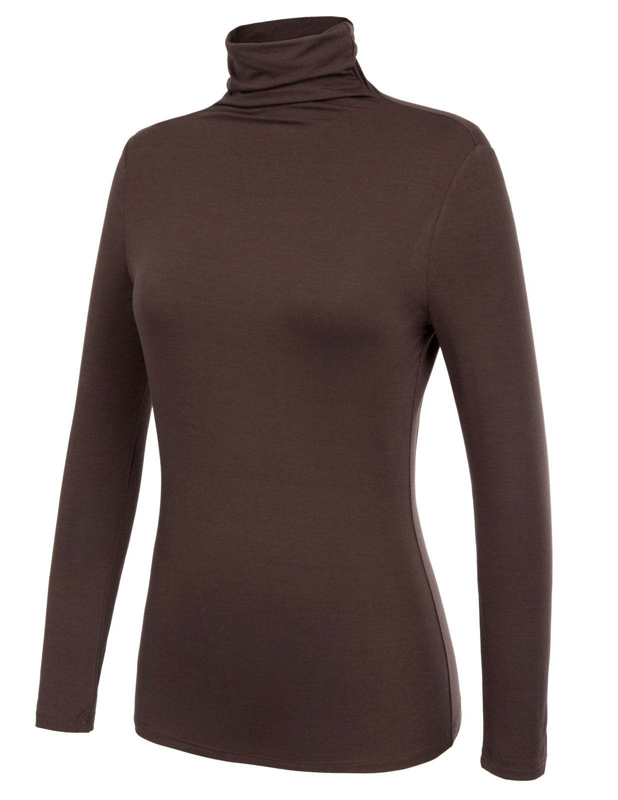 Tops Women 2018 Autumn and winter Comfortable Long Sleeve Turtleneck Pullover Cotton T-Shirt Tops Wild Solid color shirt